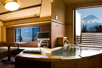 Western-style room with a private open-air bath
