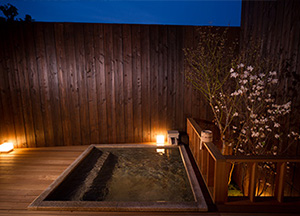 Private open-air bath