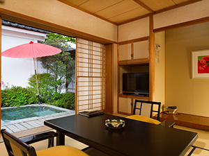 Japanese-style room with a private open-air bath